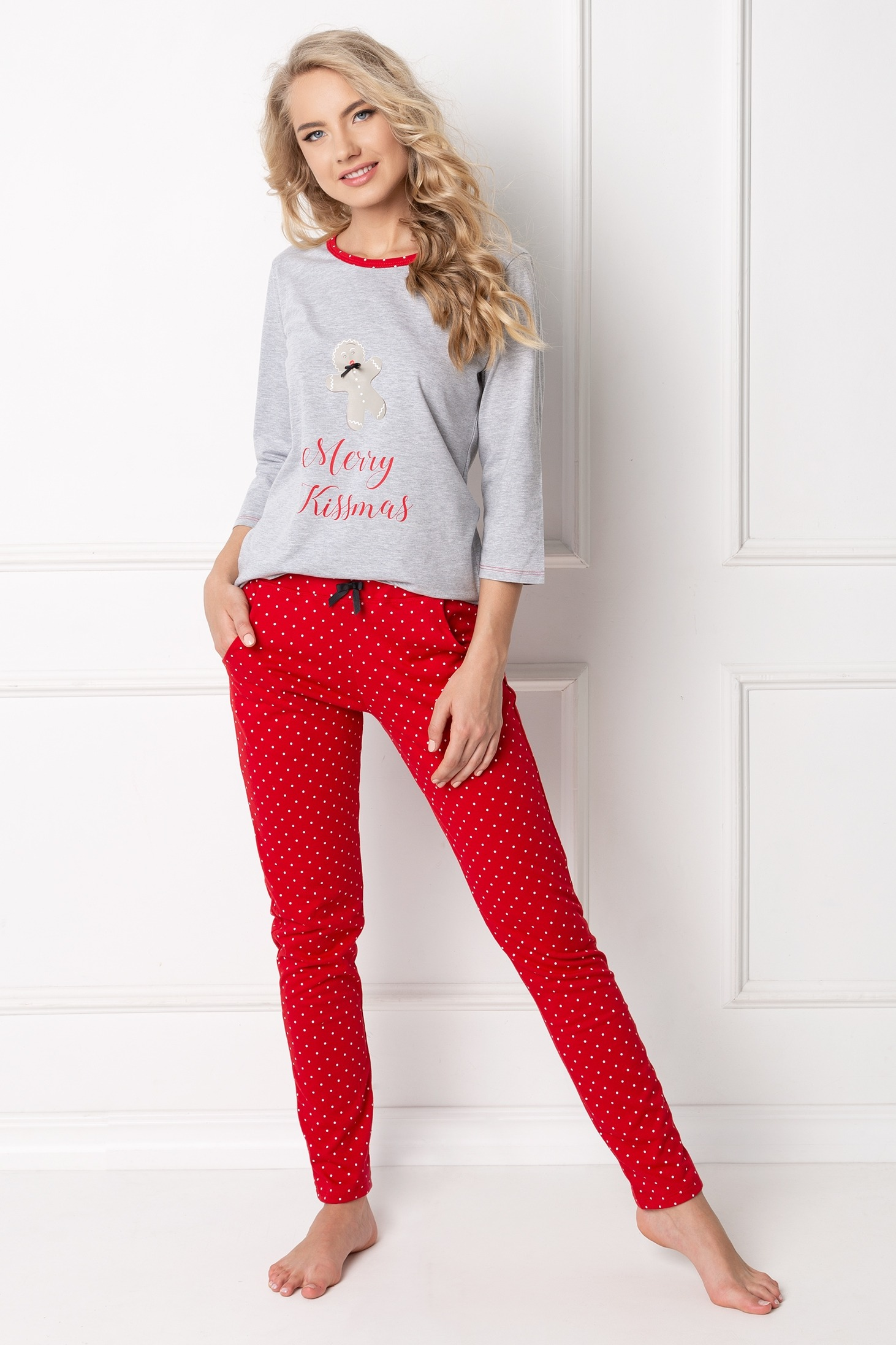 Cookie Long Grey-Red LL-GRARED